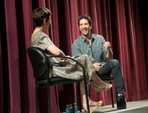Northwestern University School of Communication alumnus and actor/director David Schwimmer visited campus as the 2013 Virginia Wadsworth Wirtz Artist. He spoke with Tony Award-winning director and faculty member Anna D. Shapiro in front of a 350-member student audience. Photos by Justin Barbin (C11)