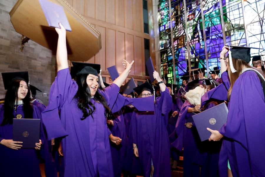Northwestern University's MSC Program Graduation at the Alice Millar Chapel on Friday, August 11th, 2017. Photos by Jasmin Shah.