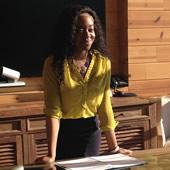 MS in Leadership for Creative Enterprises student Melissa Cline at internship with Oprah Winfrey Network
