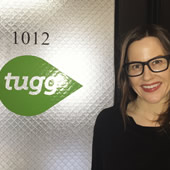 MS in Leadership for Creative Enterprises student Laura Hess at internship with Tugg
