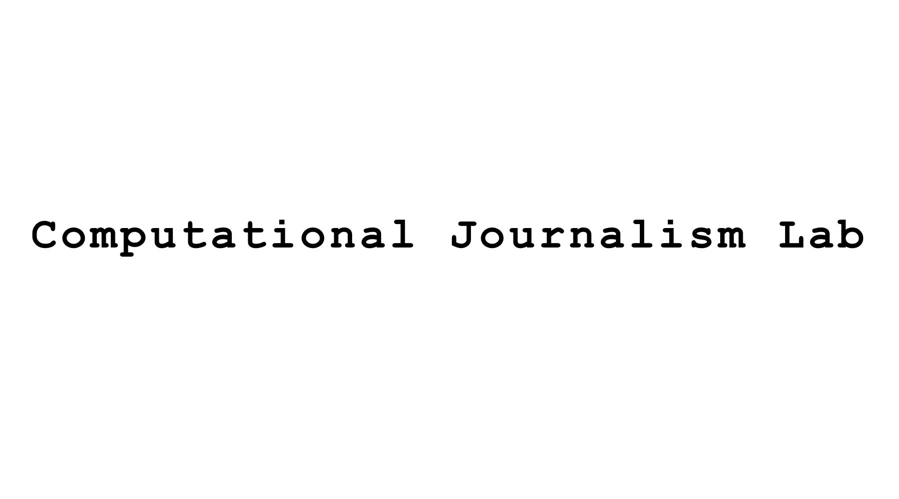 Computational Journalism Lab